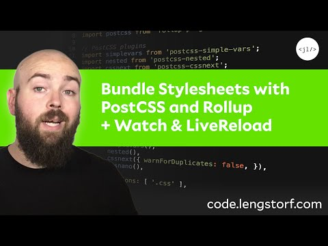 How to Bundle Stylesheets and Add LiveReload With Rollup