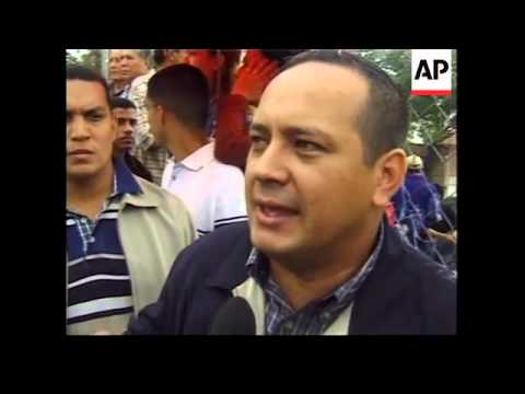 Pro and anti Hugo Chavez marches in Caracas.