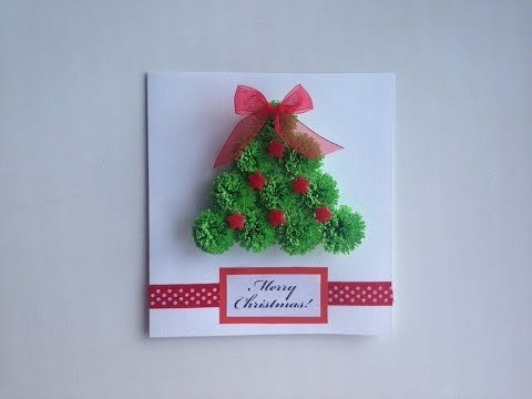 Paper Christmas cards make paper Quilling Christmas card.
