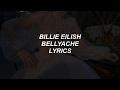 bellyache // billie eilish lyrics