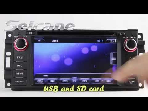 Jeep Commander Radio Navigation System, Android 4.2 2008 2009 2010 Jeep Commander Stereo with USB Ip