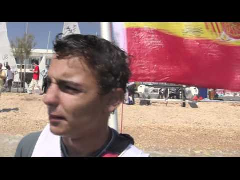2011 ISAF Youth Worlds - Jordi Xammar and Alex Claville (ESP) 420 Boys Gold Medallists