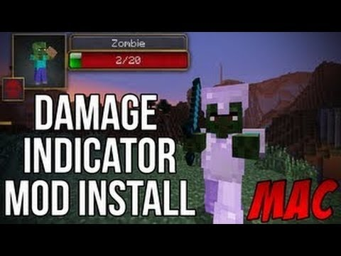 Minecraft 1.7.2 - How To Install The Damage Indicator Mod (Mac)