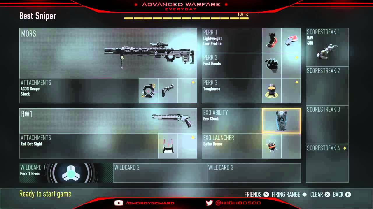 Advanced Warfare Mors Sniper Best Advanced Warfare Sniper