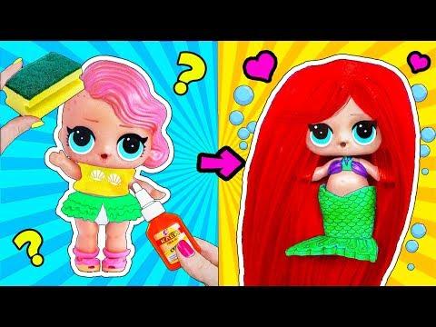 12 НЕВЕРОЯТНЫХ ЛАЙФХАКОВ для куклы ЛОЛ Сюрприз! Мультик LOL Surprise toy SCHOOL LIFE HACKS