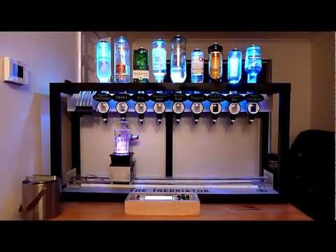 The Inebriator Arduino Cocktail Machine Dispensing