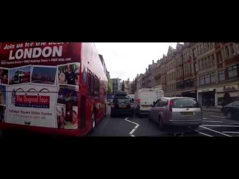 Driving in London - Heathrow Terminal 2 to Central London