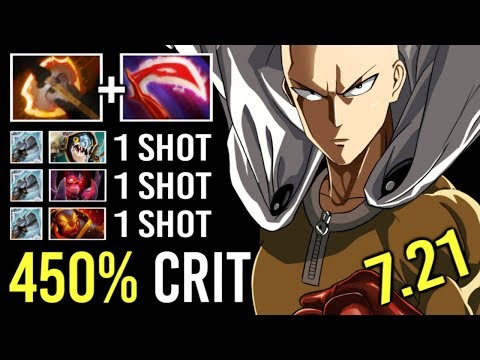 NEW BUILD Battle Fury Tusk One Punch Kill Crazy Armor Melt Strat Gameplay by Hector 7.21 Dota 2