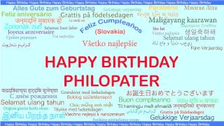 Philopater   Languages Idiomas - Happy Birthday
