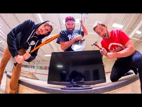 Can We Bbreak This? / FlatScreen TV!