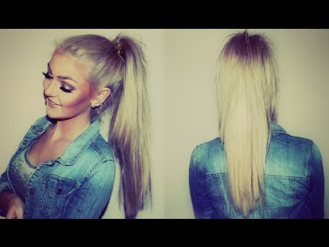 How To: High Ponytail Using Clip In Hair Extensions - german - deutsch