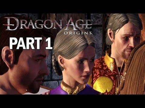 Dragon Age Origins Walkthrough Part 1 Intro - Let's Play Gameplay (PC)
