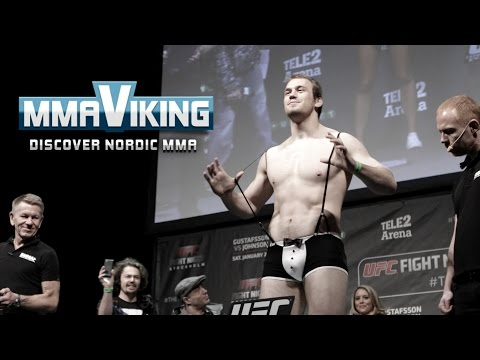 UFC Sweden 4 Weigh Ins Viktor Pesta vs  Konstantin Erokhin