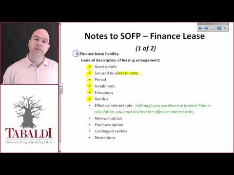 IAS17-7(B) Finance Lease: Disclosure for lessee