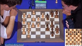 EXCITING ENDGAME!!! MAGNUS CARLSEN VS FABIANO CARUANA - BLITZ CHESS 2016