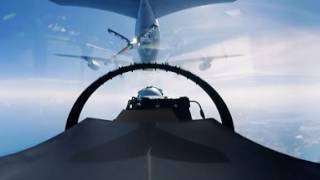 PolAF F-16 Aerial Refueling & B-52 On Wing - Video360