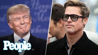 Donald Trump's Surprise Win Hits Hollywood, Brad Pitt