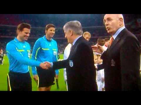 England v Holland handshake scandal!!!
