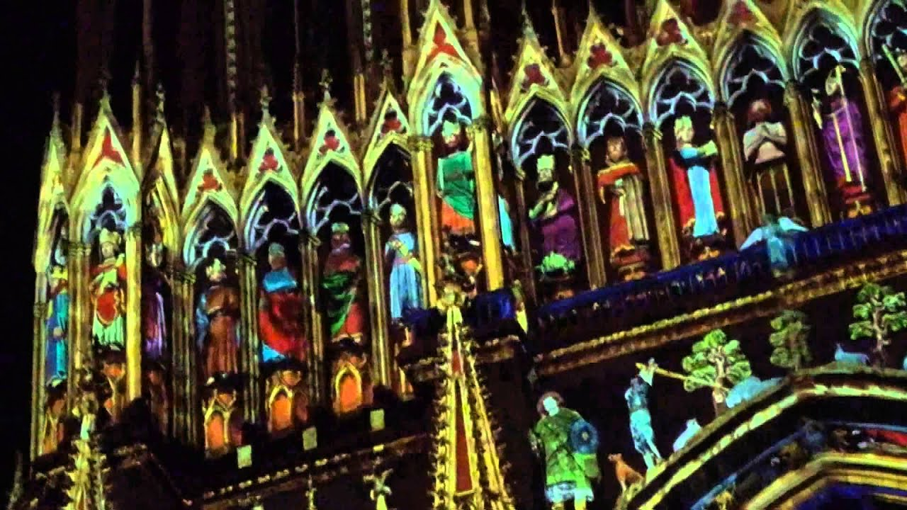 Reims Cathedrale Lumiere Cathédrale de Reims 2013 2d