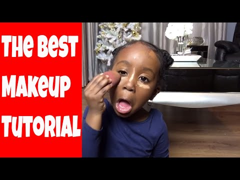 4 year old makeup tutorial (obviously just for fun )