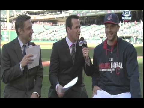 Corey Kluber rains on Justin Masterson's interview