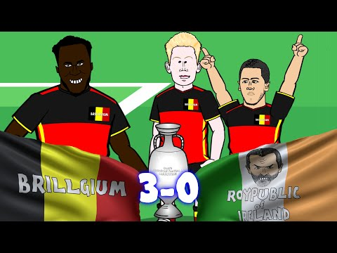 Belgium vs Republic of Ireland 3-0 (Euro 2016 Romelu Lukaku and Axel Witsel goals highlights)