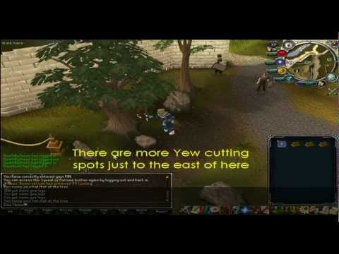 Runescape 1-99 Woodcutting Guide F2P & P2P HD (Fully Detailed)