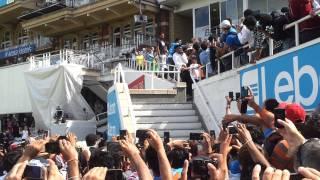 Sachin Tendulkar entering the ground India Vs England 4th Test Day 5 Oval [HD] 1080p