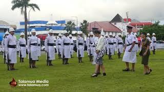 New Zealand Prime Minister, Jacinda Arden's visit to Samoa - Police Guard of Honour Inspection