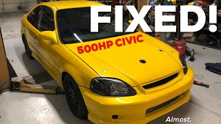 FIXING THE 500HP TURBO SOHC D16 CIVIC!