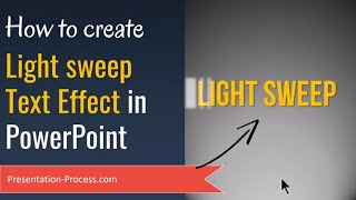 How to Create Animated Light Sweep Text Effect in PowerPoint