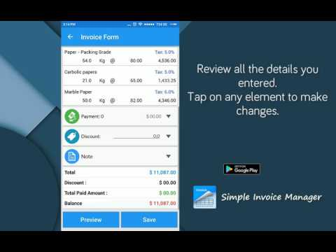 Simple Invoice Manager Business Invoice Manager Payments App - Invoice software android