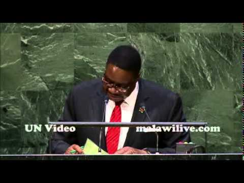 Malawi President Peter Mutharika Address to the 69th UNGA   YouTube   Copy