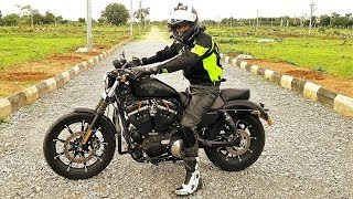 Riding Harley Davidson Iron 883 in Hyderabad Traffic. MotoVLog Review.