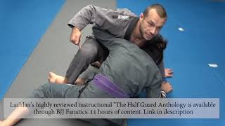 The best counter to the half guard sweep... and how to re-counter (Lachlan Giles)