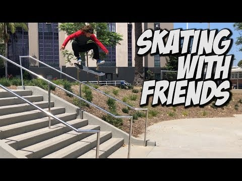 SKATING WITH FRIENDS AND NEW KIDS !!! - NKA VIDS -