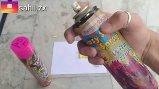Holi Snow Colour Spray vs Paint Spray | Testing |