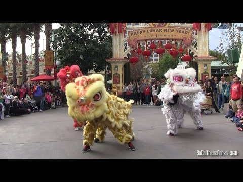 [HD] Lion Dance - Lunar New Year Celebration 2014 at Disney California Adventure