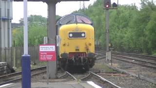 Deltic 55022 on 334 EMU drags 24 05 14