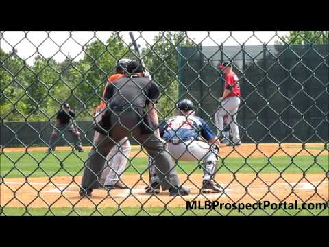 Delino DeShields Jr. batting, Houston Astros, 2B - Minor League Spring Training 2013