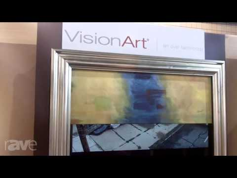 CEDIA 2013: Turn Your TV Into Beautiful Art With VisionArt Flat Panel Concealment