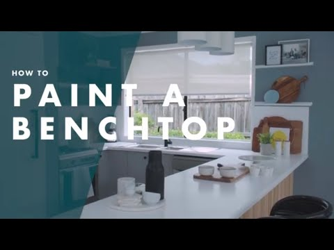 How To Paint A Kitchen Benchtop