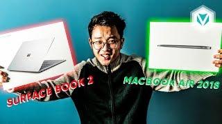 Mở hộp cả Surface Laptop 2 và Macbook Air 2018