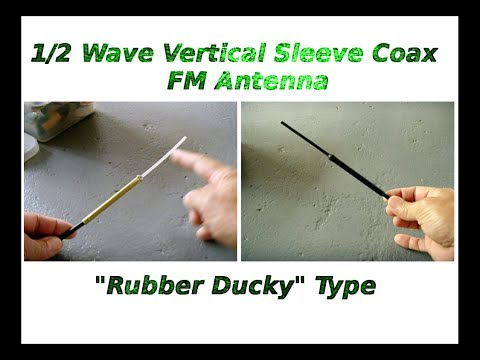 Make Your Own Fm Vertical Sleeve Coax Antenna video