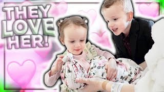 Meeting Their Baby Sister!!! (Super Cute Reaction!)