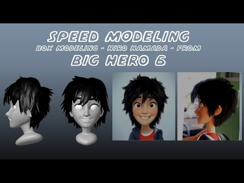 Box modeling Hiro Hamada - Big Hero 6 (Autodesk Maya)