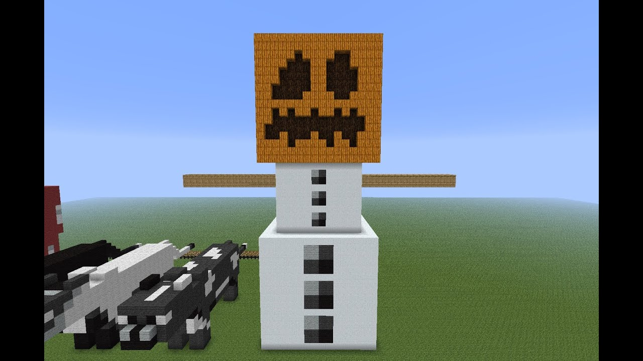 Tutorial golem de nieve gigante 3d minecraft youtube - Minecraft golem de diamant ...