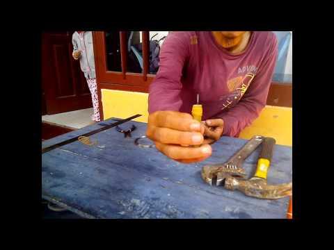 Bagaimana cara membuat mata kail / pancing khusus udang terbuat dari kawat baja stainless
