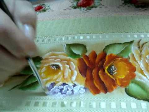 Pintura Em Tecido Completando Com Miosótis.wmv video