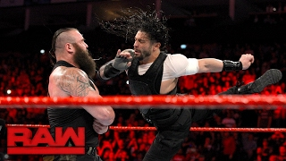 Roman Reigns attacks Braun Strowman: Raw, May 8, 2017
